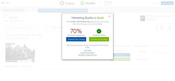 Example of marketing quality score 2-1
